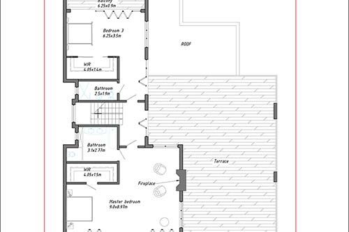 Property: Mira - First Floor plan, Pauanui