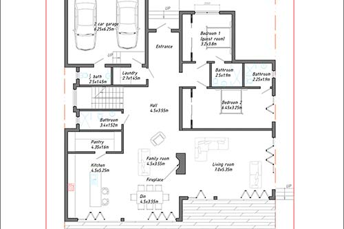 Property: Mira - Ground Floor plan, Pauanui